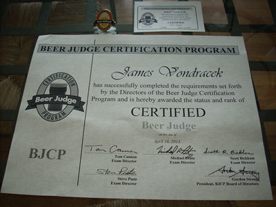 Promoted to Certified Beer Judge