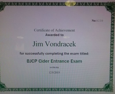 Passed the Cider Entrance Exam